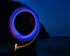 Light Painting (Jerry Curtis) Tags: light beach painting cove nl middle