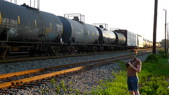 Tankers (No Real Name Given.) Tags: railroad train track side brain rolling boxcars tanks tankers trackside benching
