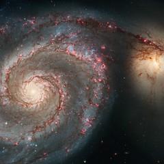Whirlpool Galaxy (sjrankin) Tags: nasa galaxy acs m51 messier wfc hst interacting hubblespacetelescope whirlpoolgalaxy ngc5194 ngc5195 spiralgalaxy extragalactic hypergiantstar etacarinaanalog