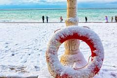 suddenly the snow fell (Dmitry Karyshev) Tags: sea snow seascape color colors snowstorm nyip karyshev 5dmiii canon2470mmf28liiusm