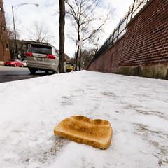 The Lost Toast (Josh Thompson) Tags: snow toast sidewalk montrose sigma1020mmf456exdc d7000 lightroom5