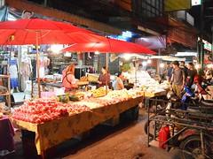 Food stalls (kawabek) Tags: thailand stall motorcycle chiangmai          parsol
