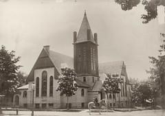 Presbyterian Church, Boys on Horseback, B&W Photo