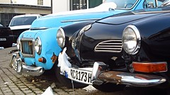 Volvo PV544 & VW Karmann Ghia Cabriolet (vwcorrado89) Tags: volvo pv b18 544 pv544 buckelvolvo 444 pv444