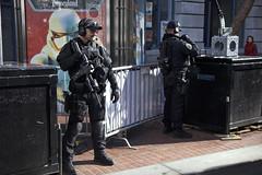 Corporate Safety (Generik11) Tags: sf advertising football cops police disney superbowl sfpd sfist militarized superbowlcity