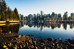 Vancouver downtown from Stanley Park (Francesco Patroncini Photography) Tags: park city sky urban canada water skyline architecture vancouver america buildings nikon tramonto skyscrapers britishcolumbia stanley northamerica stanleypark architettura refelctions citt urbanphotography d90 metropoli nikond90