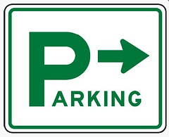 Directional Parking Sign (pipprinting354) Tags: signs marketing colorado parking denver printing pip directional outdoormetalsign
