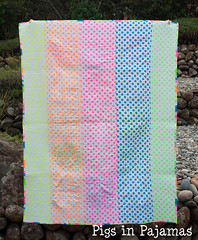 Neon quilt back (pigsinpajamas) Tags: neon quilt fabric batting layercake basting backing jellyroll rileyblake