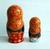 Nesting dolls (matryoshka) in Russian style Khokhloma in handmade. (Artworkshop1) Tags: handmade babushka matryoshka khokhloma