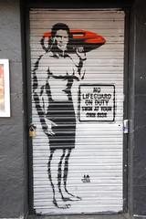 Graffiti in the Shoreditch area of London (Ian Press Photography) Tags: street england streetart london art graffiti lifeguard shoreditch hasselhoff hoff baywatch