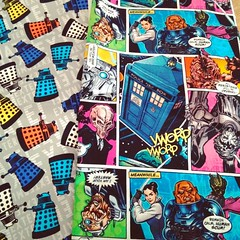Someday when I have time these fabrics will be turned into a sleeve for my #surface3 #doctorwho #exterminate #dalek ({Pink Punk} Shelly) Tags: skyline square squareformat iphoneography instagramapp uploaded:by=instagram
