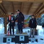 Overall SL Podium, Sun Peaks Jan 2016 Liam Applegath 1st; Devin Blaser 2nd; Joshua Jacoby 3rd