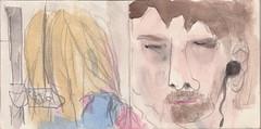 Am Stachus habe ich Dich in der U-Bahn gesehen. Du hattest diese vertrumten Augen. Ich glaube, Du hast Phil Collins gehrt (raumoberbayern) Tags: summer bus pencil subway munich mnchen sketch drawing sommer tram sketchbook heat ubahn draw bleistift robbbilder skizzenbuch zeichung