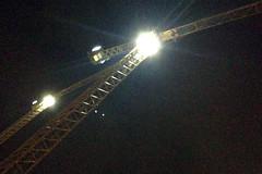 Night Cranes (Ian E. Abbott) Tags: construction nightshot cranes siliconvalley mountainview constructioncranes lightanddark