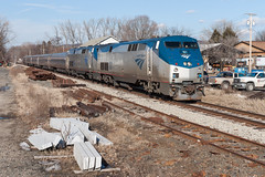 South Deerfield Blitz (sullivan1985) Tags: railroad train ma massachusetts railway trail amtrak locomotive passenger ge generalelectric vermonter southbound southdeerfield amtk p42dc