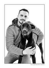 LUC_5526 copia (Spenny71) Tags: family portrait bw dog dogs cane friend famiglia bn friendly ritratti amicizia cani progetto spennacchio spenny71