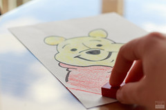06/52 - Theme: Winnie The Pooh - Title: Drawing The Pooh-Bear (pics-n-more) Tags: bear sky reflection hand himmel pooh draw winnie br reflektion zeichnen eos700d 52weeksthe2016edition week62016 weekstartingfridayfebruary52016