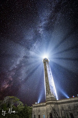 """Phare des Baleines - le de R"" (by Num...Photographie) Tags: ocean light sky lighthouse night stars nightscape ciel phare toiles milkyway baleines voielacte pharedesbaleines"