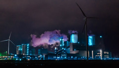 Emshaven Holland.             I this Crazy (kahramanklc) Tags: winter cold holland colour love night sony like follow future a7 furthermore emshaven
