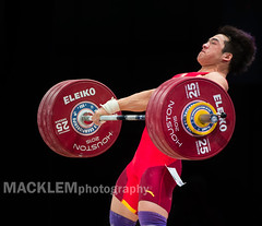 TIAN Tao China 85kg (Rob Macklem) Tags: china tian olympic tao weightlifter 85kg