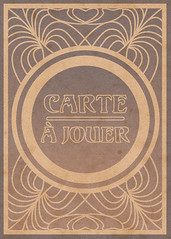 Art Nouveau Playing Card (Back) (Graphic Design | Illustration) Tags: illustration design graphicdesign artnouveau poker fullsail playingcard alphonsemucha kingofhearts artmovement
