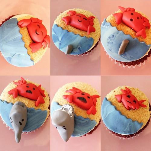 Shark Attack Cupcakes