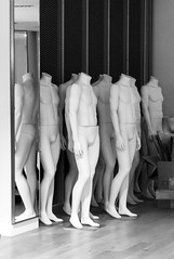 They come (Plonq) Tags: blackandwhite bw canada mannequin headless blackwhite mannequins winnipeg manitoba creepy