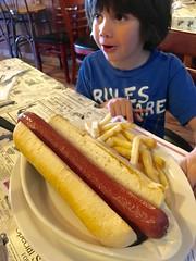 Huge sausage! (hector.acuna) Tags: food lunch hotdog eating comida sausage grub bensonarizona caseystarbuckweeksacuna