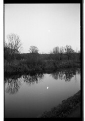 (Linden Kingston) Tags: trip moon reflection film 35mm canal olympus