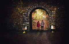 enchanted garden #6/52 week challenge (Sigita JP) Tags: outdoors creative littlegirl secretgarden chapter1 enchantedgarden 52weekchallenge fantasyforeststory