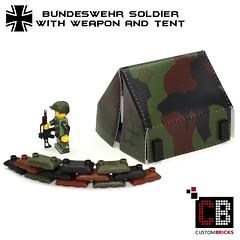 Lego CB Bundeswehr Soldat Minifigur Zelt Waffe 01 (LA-Design2012) Tags: army us force lego wwii tent special german ww2 afrika minifig custom zelt sandbags deutsche bundeswehr moc wehrmacht sandscke afrikakorps soldate custombricks