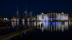 Maritime History (McQuaide Photography) Tags: old city longexposure nightphotography winter light urban holland reflection history water netherlands dutch amsterdam museum architecture night zeiss photoshop outside licht pier boat dock lowlight europe ship waterfront harbour outdoor widescreen jetty sony tripod capital nederland wideangle panoramic historic adobe maritime fullframe alpha 169 nationalmaritimemuseum waterside stad manfrotto noordholland lightroom geschiedenis schip wideanglelens capitalcity oosterdok 1635mm northholland a7ii groothoek variotessar maritimehistory mirrorless sonyzeiss slandszeemagazijn hetscheepvaartmuseum dutchbaroquearchitecture mcquaidephotography ilce7m2