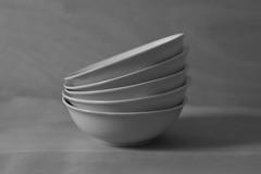 Only Bowls #1 (honiigsonne) Tags: white black indoor bowl dishes schssel schwarz tableware keramik geschirr weis schsseln minimalistisch