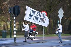 The State of The Art (Michiel2005) Tags: man holland netherlands flag nederland denhaag trommel thehague vlag jongen royalacademyofart lahaye sgravenhage koninklijkeacademie