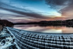 Passion Drives Perfection (Grant252) Tags: sky newyork color beautiful waterfall twilight nikon dusk dam wideangle explore watershed slowshutter d750 gorge tranquil hdr westchester westchestercounty spillway waterscape splendor cortlandt softtones newcrotondam flickrexplore crotondam crotongorgepark crotonreservoir cornelldam