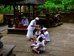 Blessing with Holy water . (Franc Le Blanc .) Tags: bali temple lumix religion panasonic blessing hindu pure agama batukaru