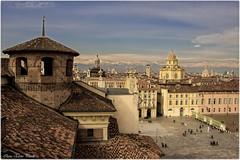 Turin panorama (Elanor82) Tags: city italy panorama mountains alps church montagne canon torino eos italia chiesa piemonte turin alpi citt palazzomadama piazzacastello 18135 700d