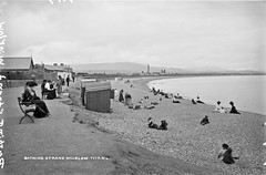 Bathing Strand, Co. Wicklow (National Library of Ireland on The Commons) Tags: beach strand explore beachhut bathing wicklow glassnegative countywicklow badestrand robertfrench williamlawrence nationallibraryofireland lawrencecollection wicklowbay locationidentified limerickbybeachcomber lawrencephotographicstudio thelawrencephotographcollection bathingstrand