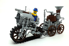 Florence and her machine (2 Much Caffeine) Tags: lego machinery steampunk moc greebles ironbuilder