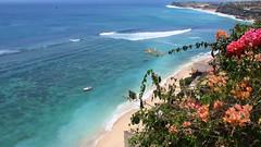 The Temple Lodge, Bali (scinta1) Tags: ocean flowers sea bali beach hotel rocks surf waves surfing cliffs villa vista accomodation bukit thatched clifftop bourganvillia pecatu bingin thetemplelodge