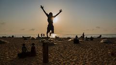 Joy (Well-Bred Kannan (WBK Photography)) Tags: boy sky sun india beach silhouette clouds boat kid jump nikon outdoor indian d750 marinabeach kannan wellbred wbk weekendwalk wbkphotography kannanmuthuraman nikond750