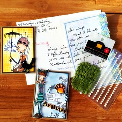 Atc's from a trade with Marilyn (Stampinkie) Tags: atc artisttradingcard rubberstamping atctrade stampotique