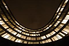 Bend (C_MC_FL) Tags: vienna wien light building window architecture modern night facade canon photography eos austria licht sterreich fotografie nacht pov fenster sigma pointofview architektur 1020mm 35 gebude futuristic fassade lighted beleuchtet futuristisch blickwinkel lowangleview 60d erstecampus