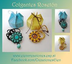 Colgantes Rosetón (eiencreaciones) Tags: handmade colgantes hechoamano delicas rosetones rocallas cabuchones twinbeads