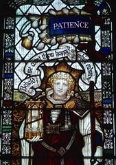 Retford - St Swithun's - Kempe Glass (Glass Angel) Tags: tower stainedglass warmemorial nottinghamshire patience retford kempe stswithun