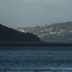 Point Halswell and the Massey Memorial (Fraser P) Tags: sea newzealand beach weather cafe harbour wellington petone lowerhutt