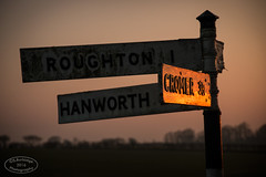 All roads lead to Cromer at Sunset (Steven586) Tags: sunset sign canon iso100 evening march spring dusk norfolk signpost roadside cromer f40 hanworth 70mm roughton 1640sec eos70d