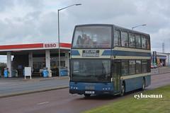 Delaine Bourne AD58DBL. (EYBusman) Tags: city bus volvo coach centre olympus lancashire east independent bourne esso peterborough cambridgeshire lancs delaine optare linconshire b9tl ad58dbl eybusman