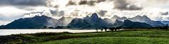 Vesteralen (enhanced version) (ForgottenMelodies) Tags: lofoten panorama norway mountain fjord sunset sun clouds sky sea water sunbeam magic beautiful nicolasauvinet