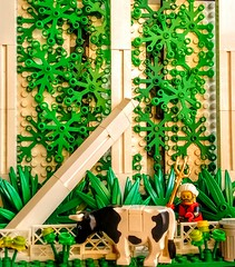 LEGO Cow in the Temple of Muraq'th! (wesleyobryan) Tags: city temple cow lego god guard ivy apocalego